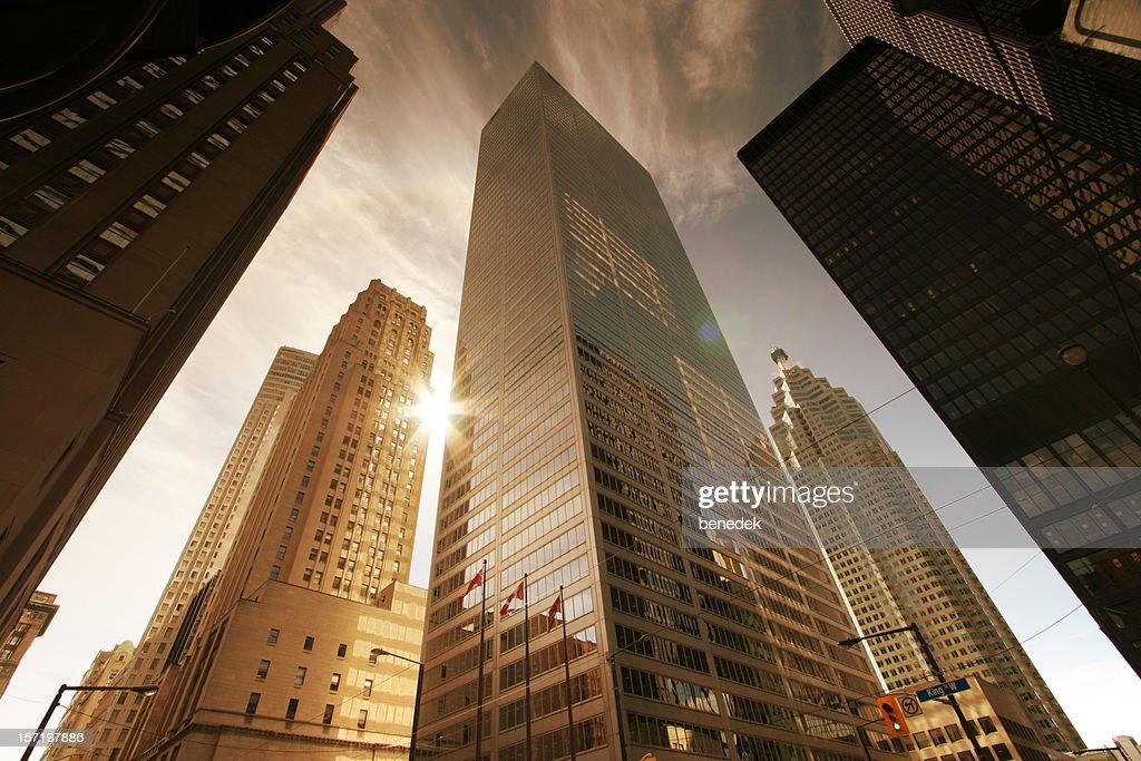 Skyscrapers and Sun : Stock Photo