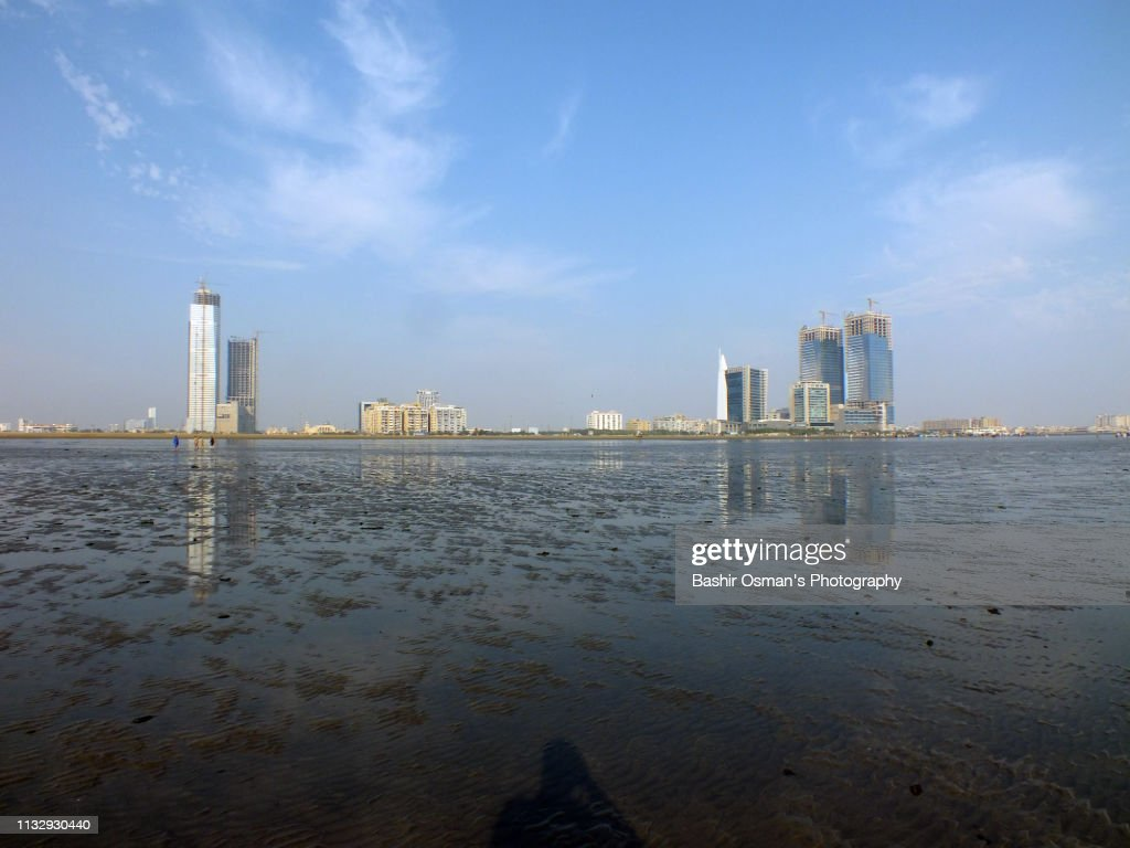 Skyscrapers At Clifton Beach Karachi Stock Photo - Getty Images