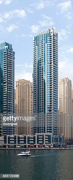 skyscrapers at dubai marina - gwengoat bildbanksfoton och bilder