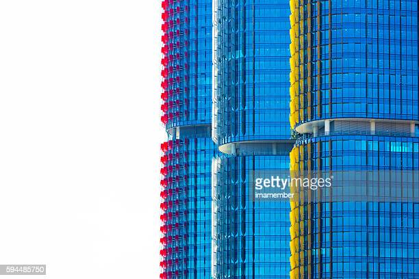 Skyscrapers, background with copy space, Barangaroo Sydney Australia