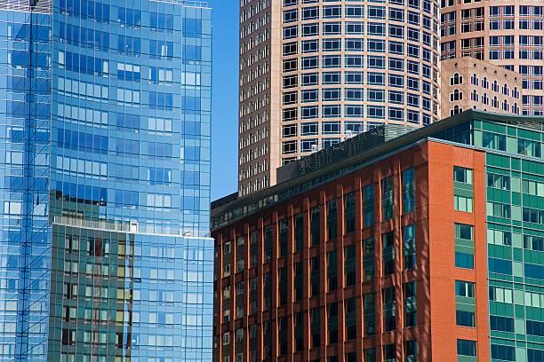 Skyscrapers, Fort Point Channel, Boston, Massachusetts, USA Wall Art