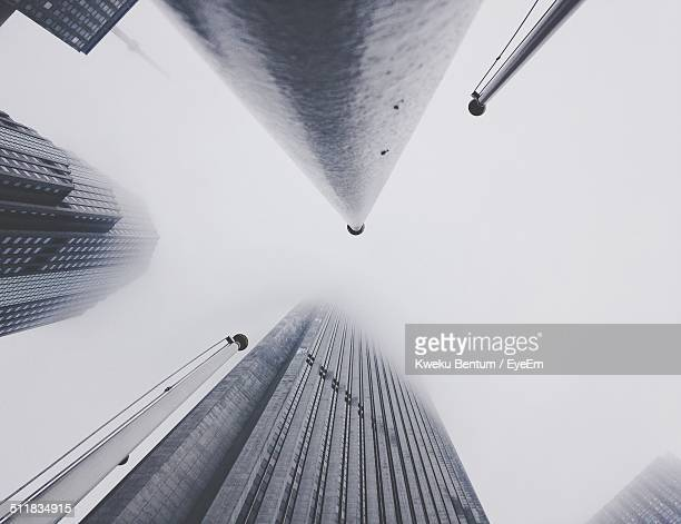 Skyscrapers from a low-angle view