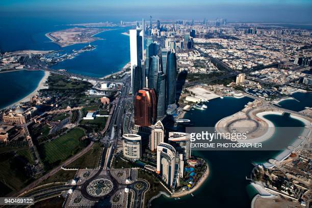 skyscrapers in abu dhabi - abu dhabi stock pictures, royalty-free photos & images
