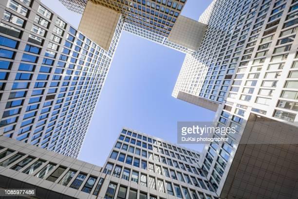 skyscrapers in beijing - beijing stock pictures, royalty-free photos & images