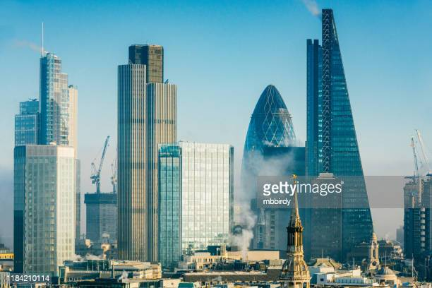skyscrapers in city of london - central london stock pictures, royalty-free photos & images