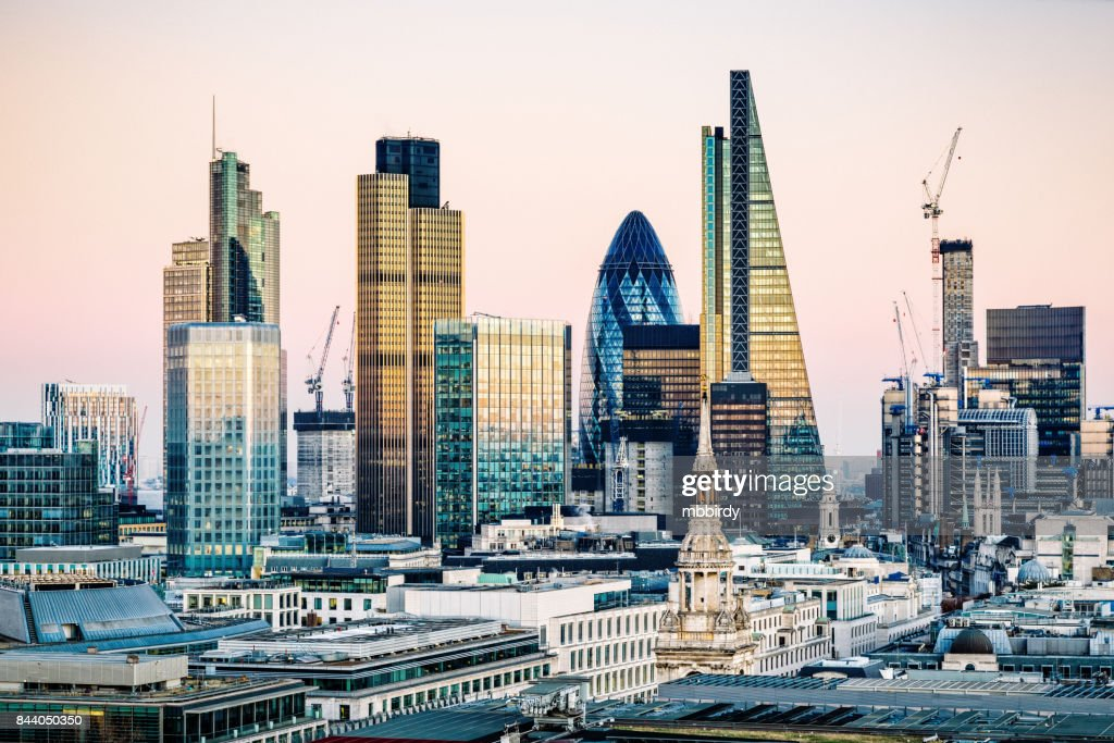 Skyscrapers in City of London : Stock Photo