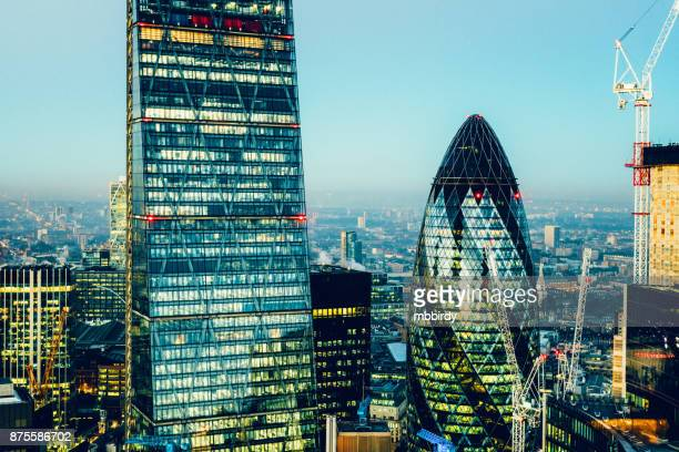 skyscrapers in city of london - brexit stock pictures, royalty-free photos & images