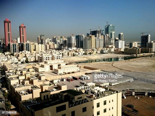 skyscrapers in city - bahrain stock pictures, royalty-free photos & images