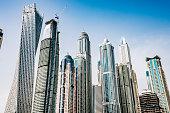 Skyscrapers in Dubai marina, United Arab Emirates