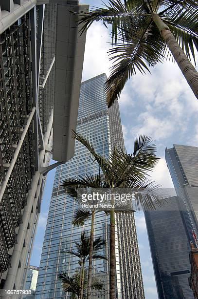 Skyscrapers in Hong Kong..
