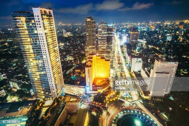 Wolkenkrabbers in Jakarta, Indonesië