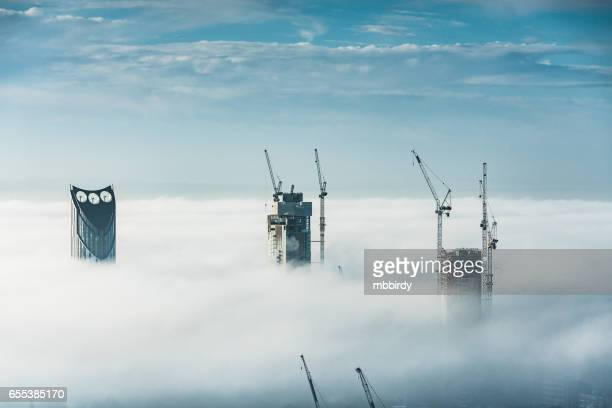 skyscrapers in london, uk - skyscraper stock pictures, royalty-free photos & images