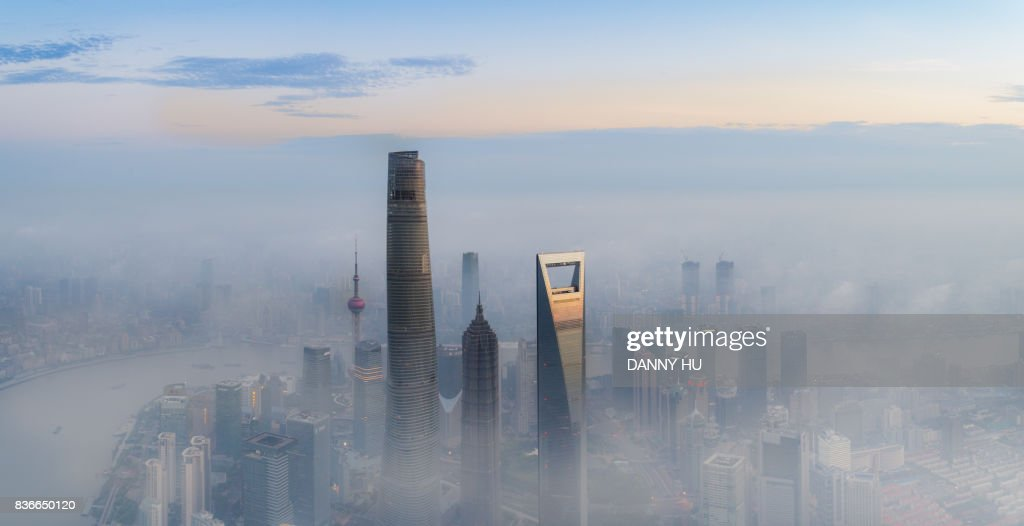 skyscrapers in Lujiazui, Shanghai : Foto stock
