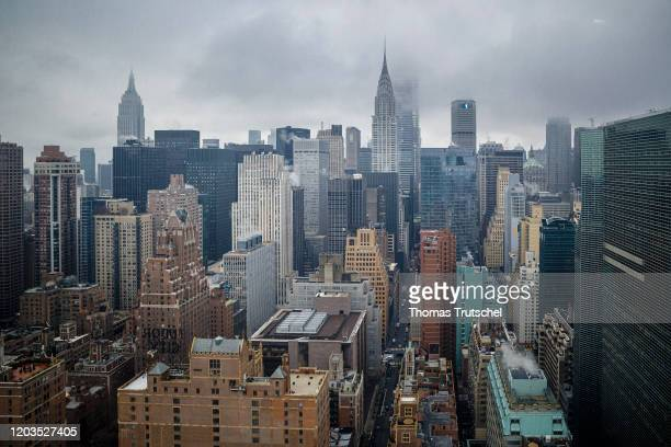 Skyscrapers in Manhattan on February 26 2020 in New York Germany