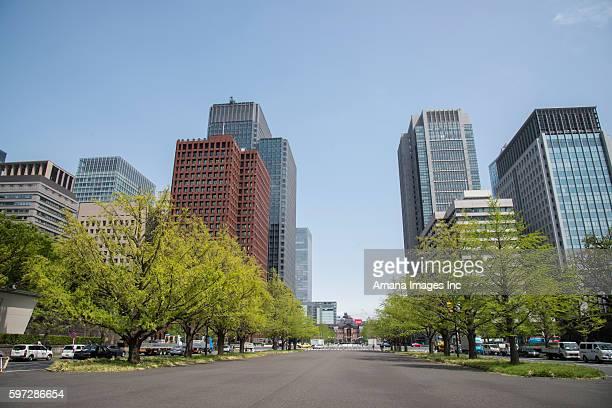 skyscrapers in marunouchi, tokyo - 丸の内 ストックフォトと画像