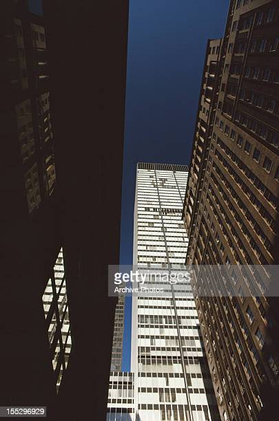 Skyscrapers in Midtown Manhattan New York City January 1979