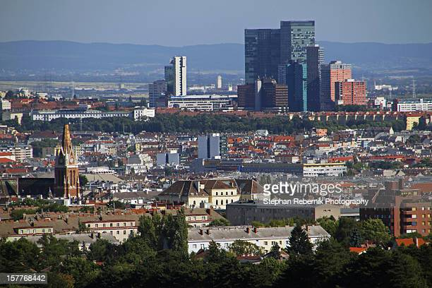 skyscrapers in vienna - stephan rebernik stock-fotos und bilder