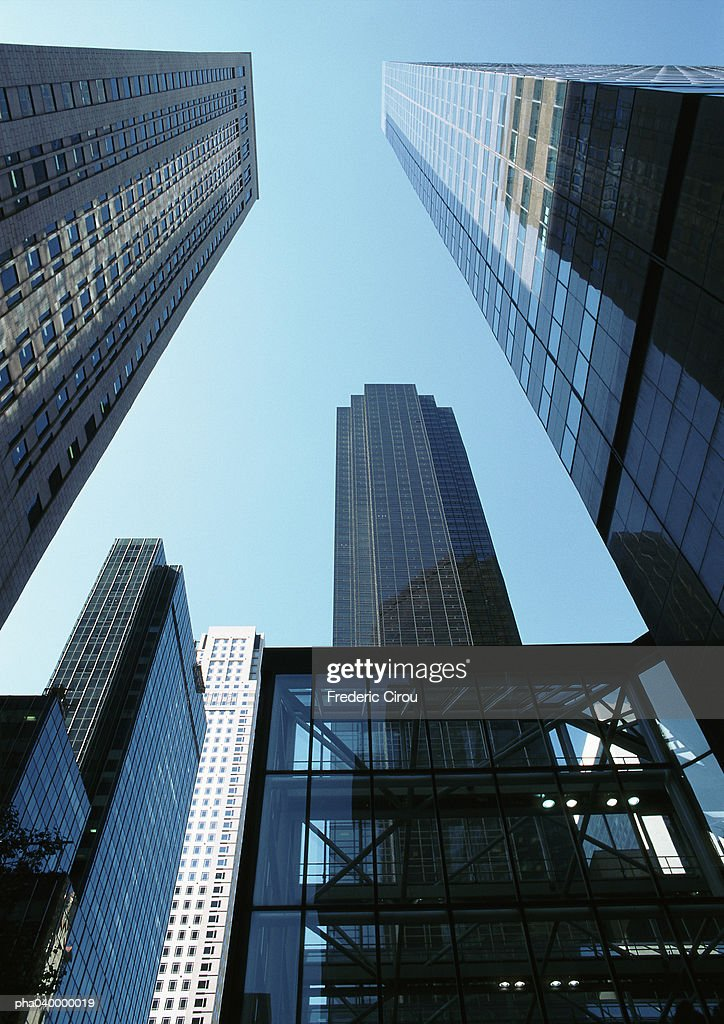 Skyscrapers, low angle view : Stockfoto