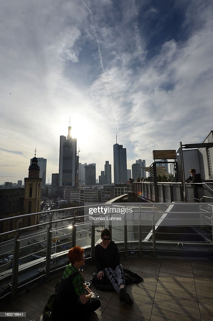 Skyscrapers, many of them belonging to leading European banks, are pictured on March 6, 2013 in Frankfurt am Main, Germany.