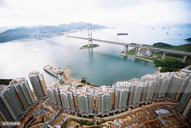 Skyscrapers Near the Man Wan Channel