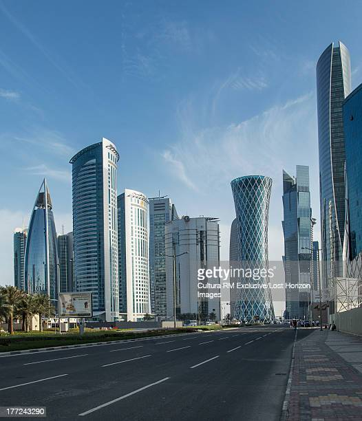 Skyscrapers of downtown Doha, Qatar