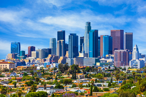 Skyscrapers of Los Angeles skyline,architecture,urban,cityscape, 478821794