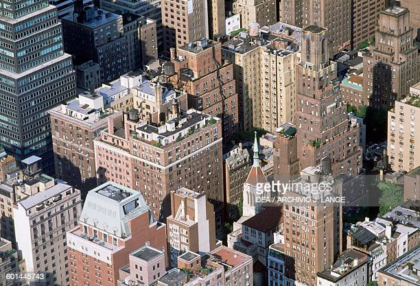Skyscrapers of Manhattan view from above New York United States of America