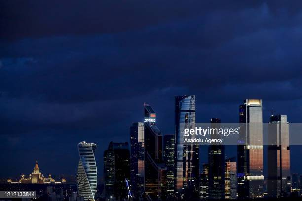 Skyscrapers of Moscow International Business Centre are seen in Moscow Russia on May 07 2020