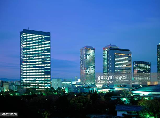 skyscrapers of osaka business park - 大阪ビジネスパーク ストックフォトと画像