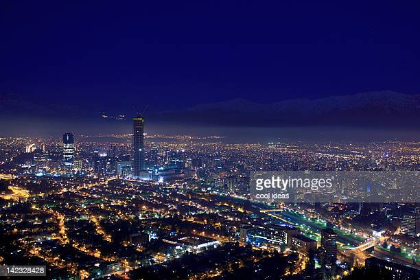 skyscrapers of santiago - santiago chile stock pictures, royalty-free photos & images