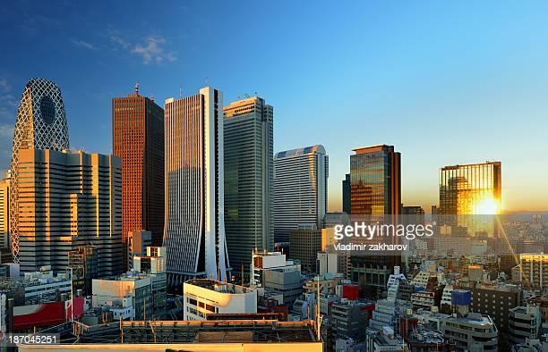 Skyscrapers of Shinjuku at sunrise