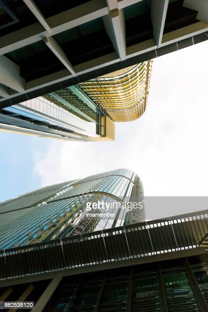 Skyscrapers, office buildings, low angle view, abstract background