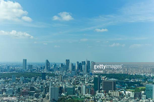 skyscrapers - kanto region stock photos and pictures