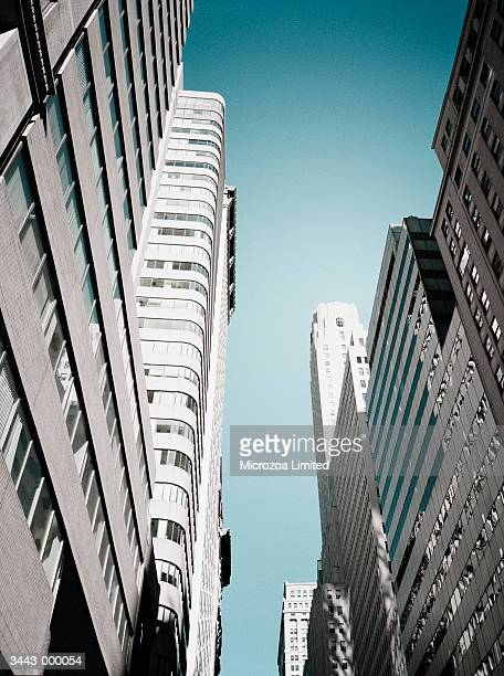 skyscrapers - microzoa stock pictures, royalty-free photos & images