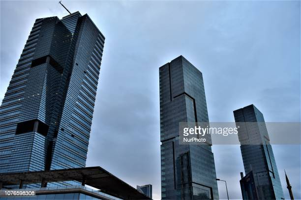 Skyscrapers rise in the business and financial district of Sogutozu in Ankara Turkey on January 3 2019