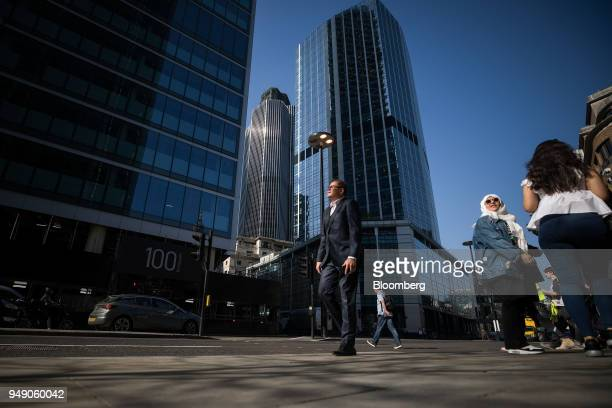 Skyscrapers Tower 42 centre and 100 bishopsgate left stand in the City of London UK on Friday April 20 2018 Foreign investors are less worried about...