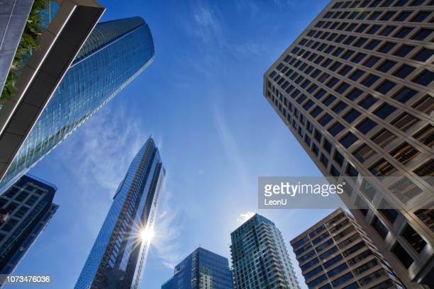 skyscrapers, vancouver, canada - downtown stock pictures, royalty-free photos & images