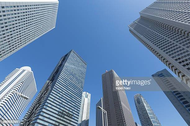 Skyscrapers with blue sky in Tokyo
