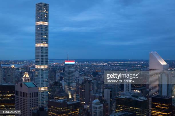 skyskrapers - new york città stock-fotos und bilder