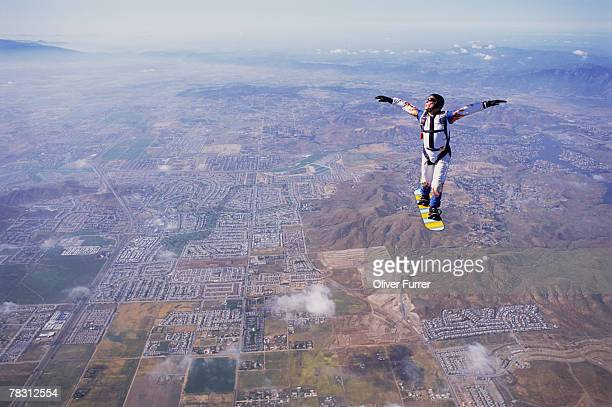 skysurfer - hovering stock photos and pictures