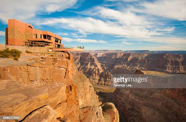 Skywalk by the Hualapai Tribe. Cantilever bridge in Arizona. Grand Canyon West Rim