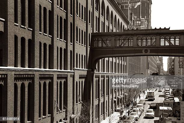 Skyway between former industrial buildings in the Meatpacking / Chelsea district of Manhattan, New York City