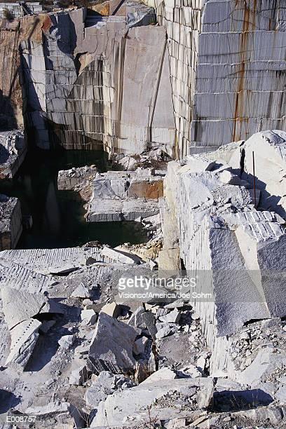 Slabs in granite quarry