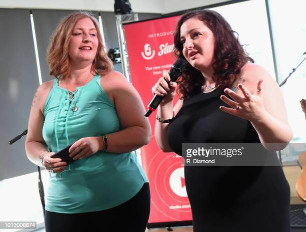 Slacker's Jess Wright and Parker attend Change the Conversation Slacker Radio #WCE Country Launch Party at The Steps at WME on August 7 2018 in...