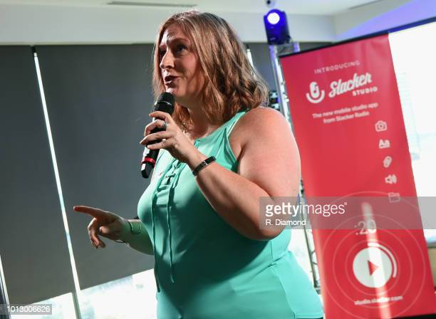 Slacker's Jess Wright attends Change the Conversation Slacker Radio #WCE Country Launch Party at The Steps at WME on August 7 2018 in Nashville...