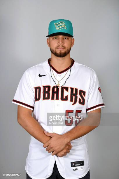 Slade Cecconi of the Salt Rive Rafters poses for a headshot during the 2021 Arizona Fall League Headshots at Salt River Fields at Talking Stick on...