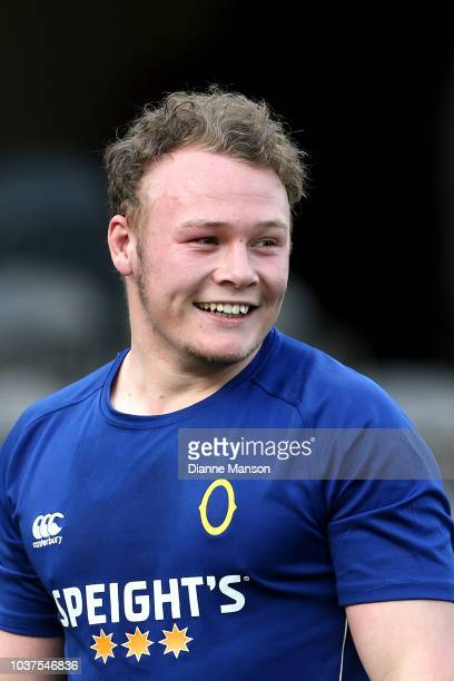 Slade McDowall of Otago looks on prior to the round six Mitre 10 Cup match between Otago and Canterbury at Forsyth Barr Stadium on September 22 2018...