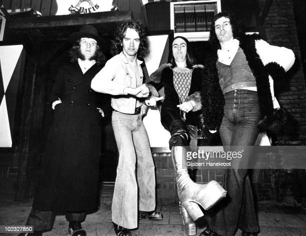 Slade posed in Amsterdam Netherlands in 1972 LR Noddy Holder Jim LeaDave Hill Don Powell