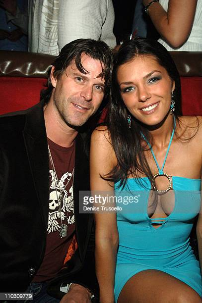 Slade Smiley and Adrianne Curry during Giantto and Von Dutch Watches Host Party at Light Nightclub at Bellagio Hotel and Casino Resort at Las Vegas...