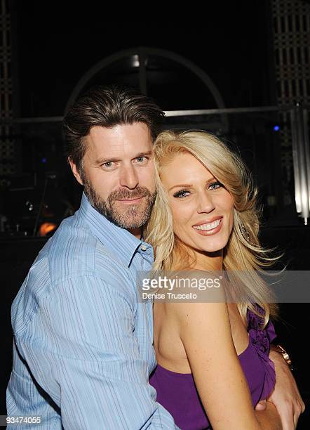 Slade Smiley and Gretchen Rossi attend LAVO Nightclub at The Palazzo on November 29 2009 in Las Vegas Nevada